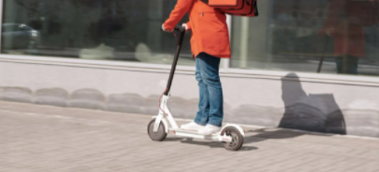 Active Travel Woman on Scooter