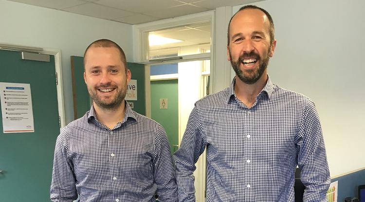 Ben and Simon matching shirts