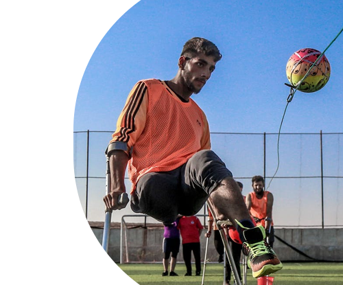 Disability football game