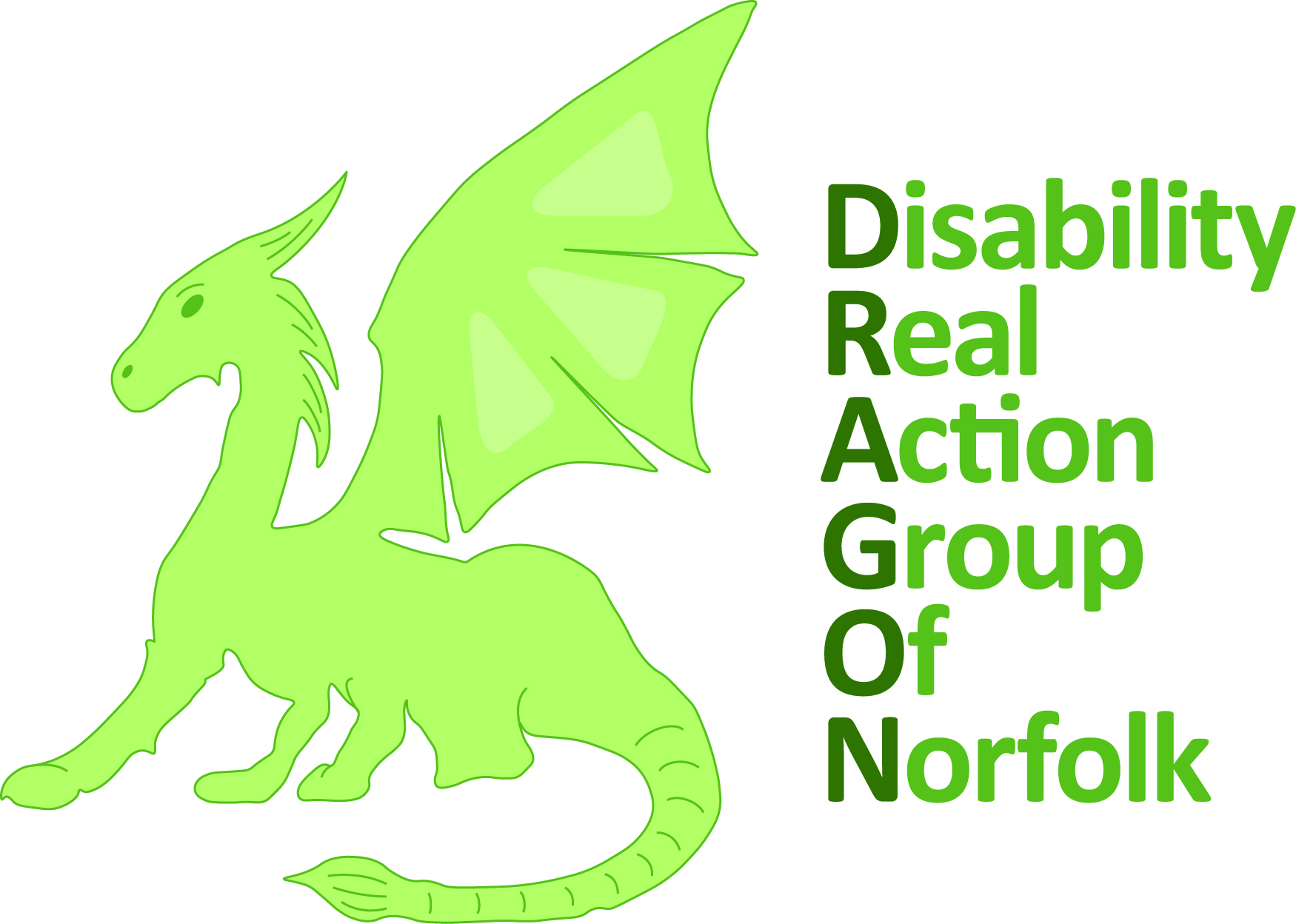 The logo for the Disability Real Action Group of Norfolk