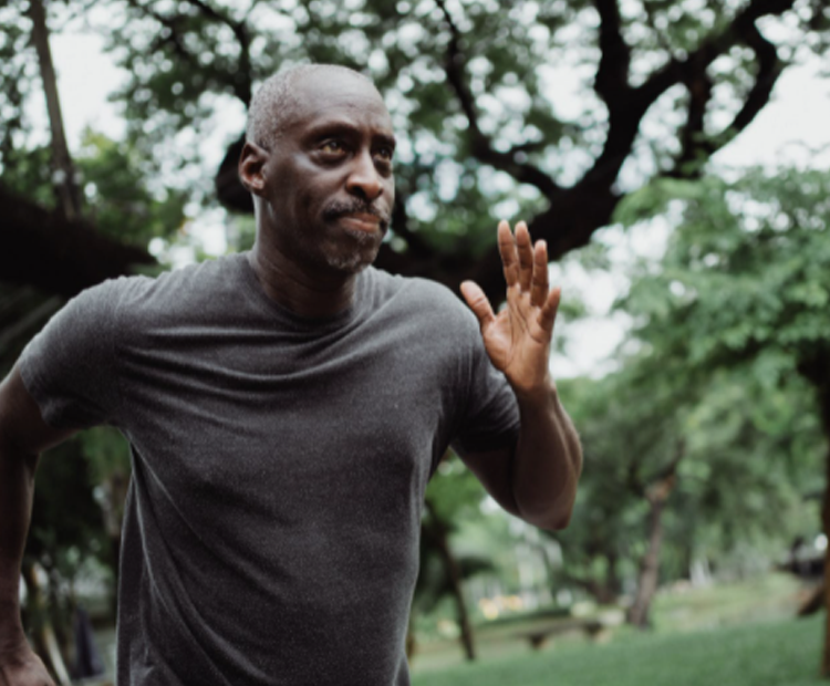 Man running for mental health