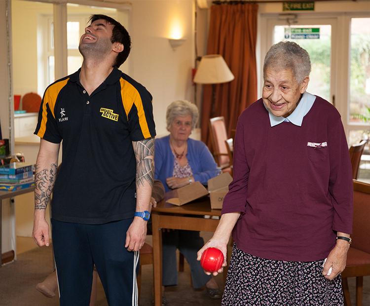 Adapting activities guides: Older people having fun