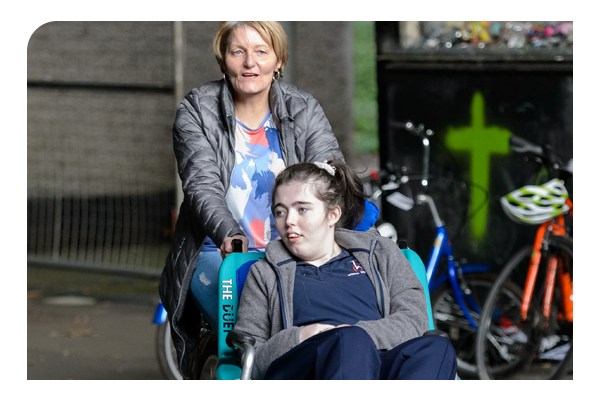 Safeguarding: Girl in wheelchair at youth club