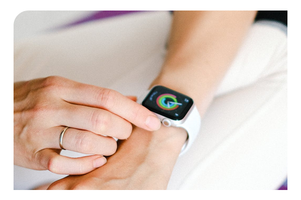 Woman with fitbit
