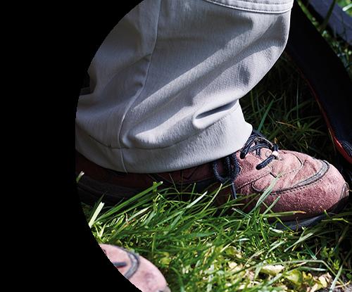 Shoes on dementia walk