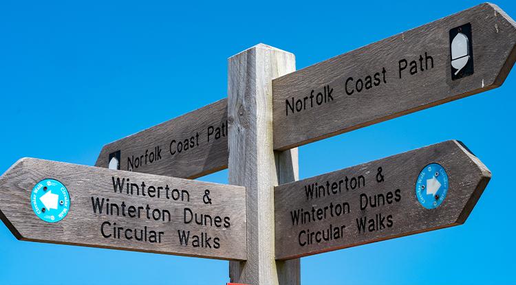 Norfolk walk signpost