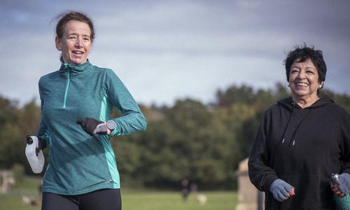 Older women get active outdoors