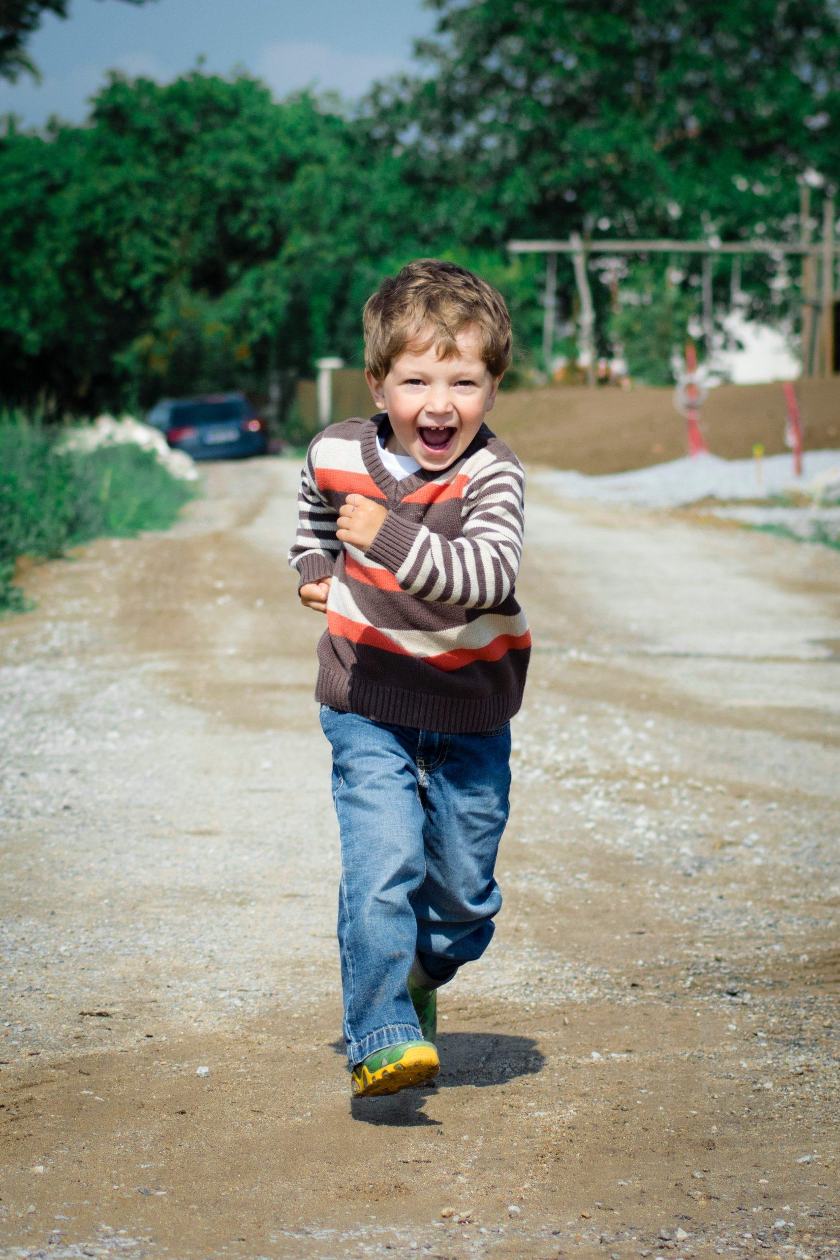 Youth boy running