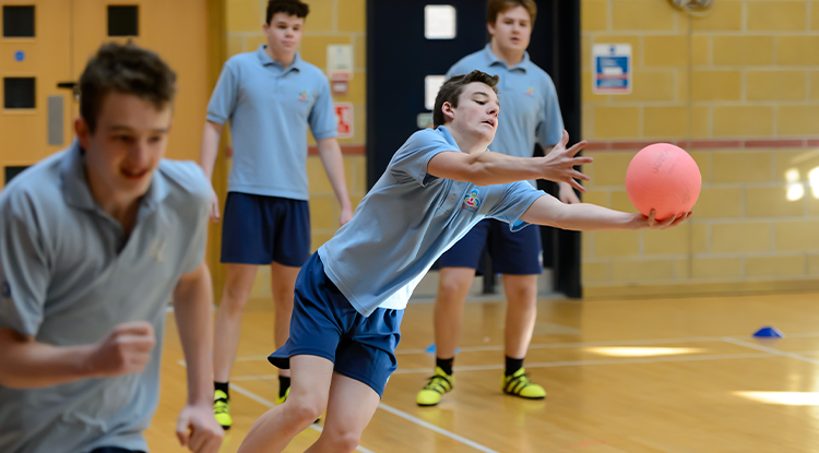 students living active lives in a PE lesson